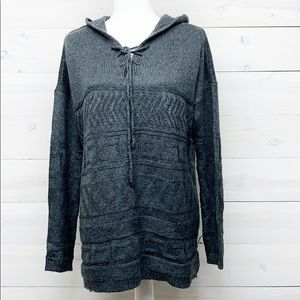 Sonoma Gray Pullover Hooded Sweater